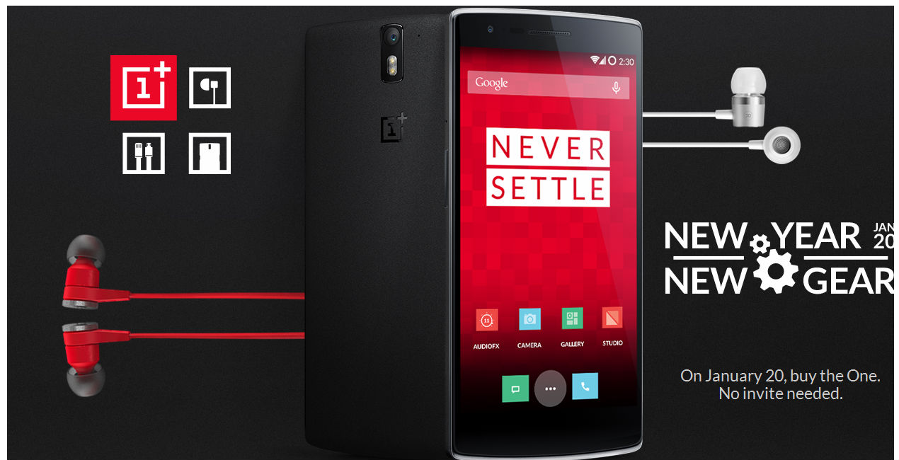 OnePlus One available for online purchase without invite on 20 January