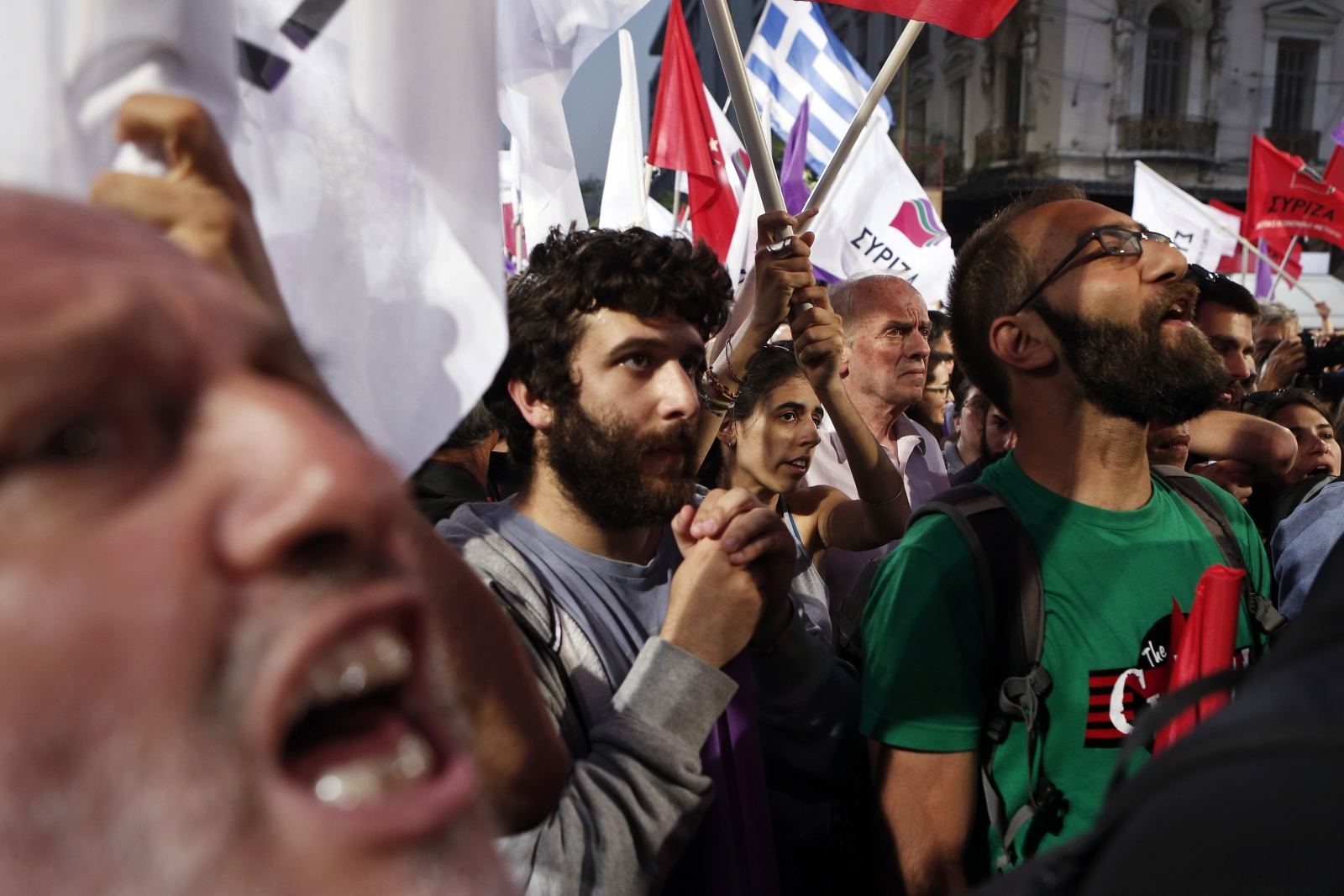 Syriza supporters