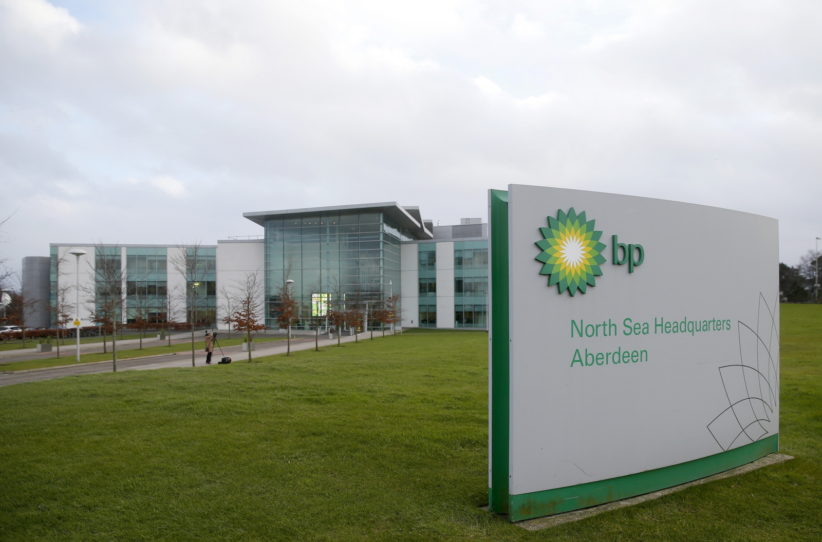 BP's North Sea Headquarters is seen in Aberdeen