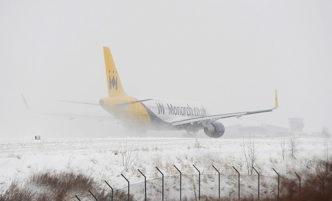Leeds Bradford Airport was forced to close earlier this morning because of heavy snow