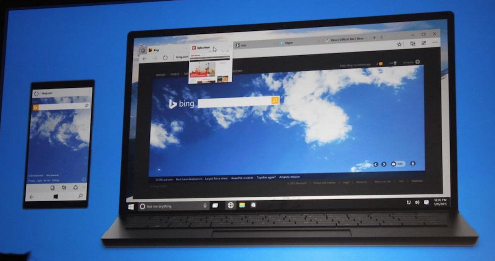 Project Spartan web browser Windows 10