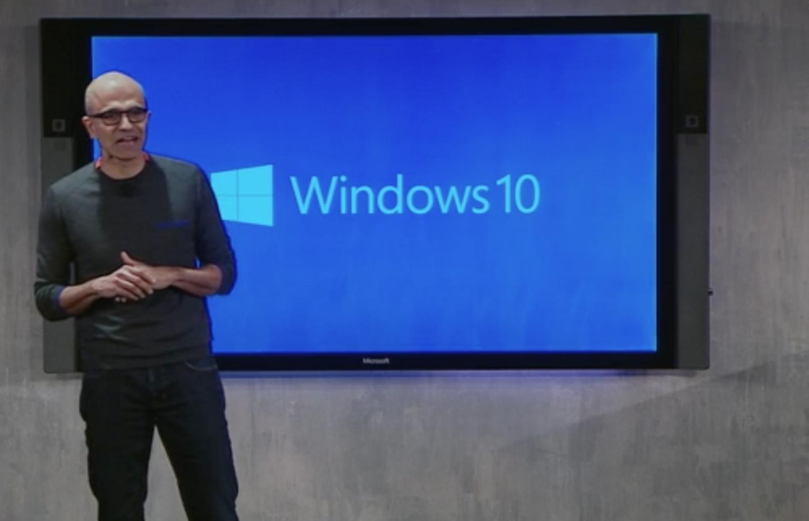 Satya Nadella Windows 10 launch