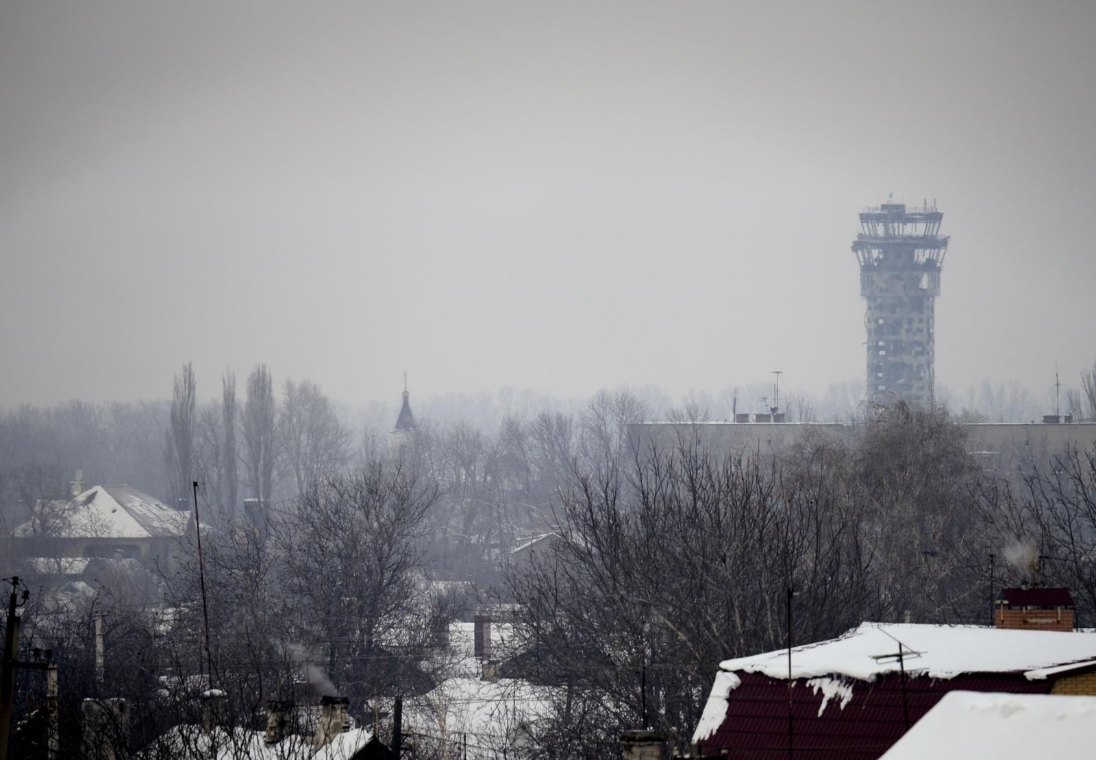 Donetsk international airport Battle Ukraine