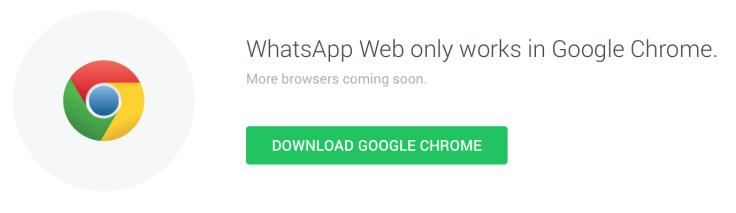 WhatsApp Web on Chrome Browser