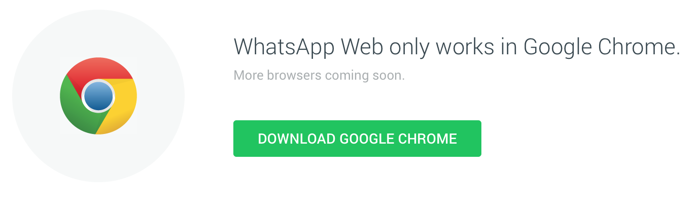 WhatsApp Web on Chrome Browser