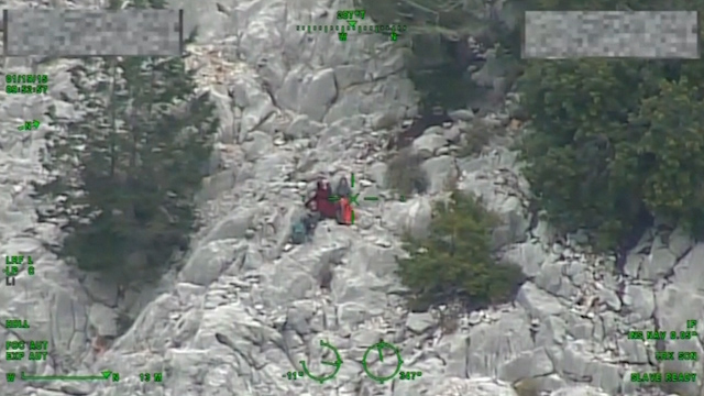 Three hikers are rescued after eight days on mountain