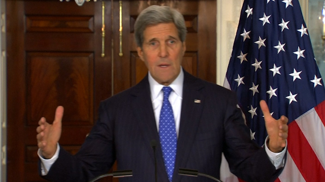 John Kerry accuses pro-Russia rebels of 'blatant land grab' in Ukraine