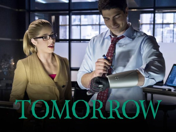 Arrow's Felicity and Ray Palmer in The Flash