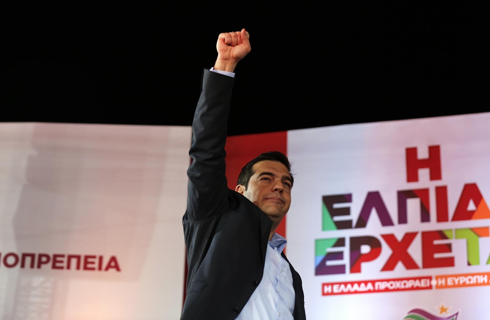 Rradical leftist Syriza party Alexis Tsipras