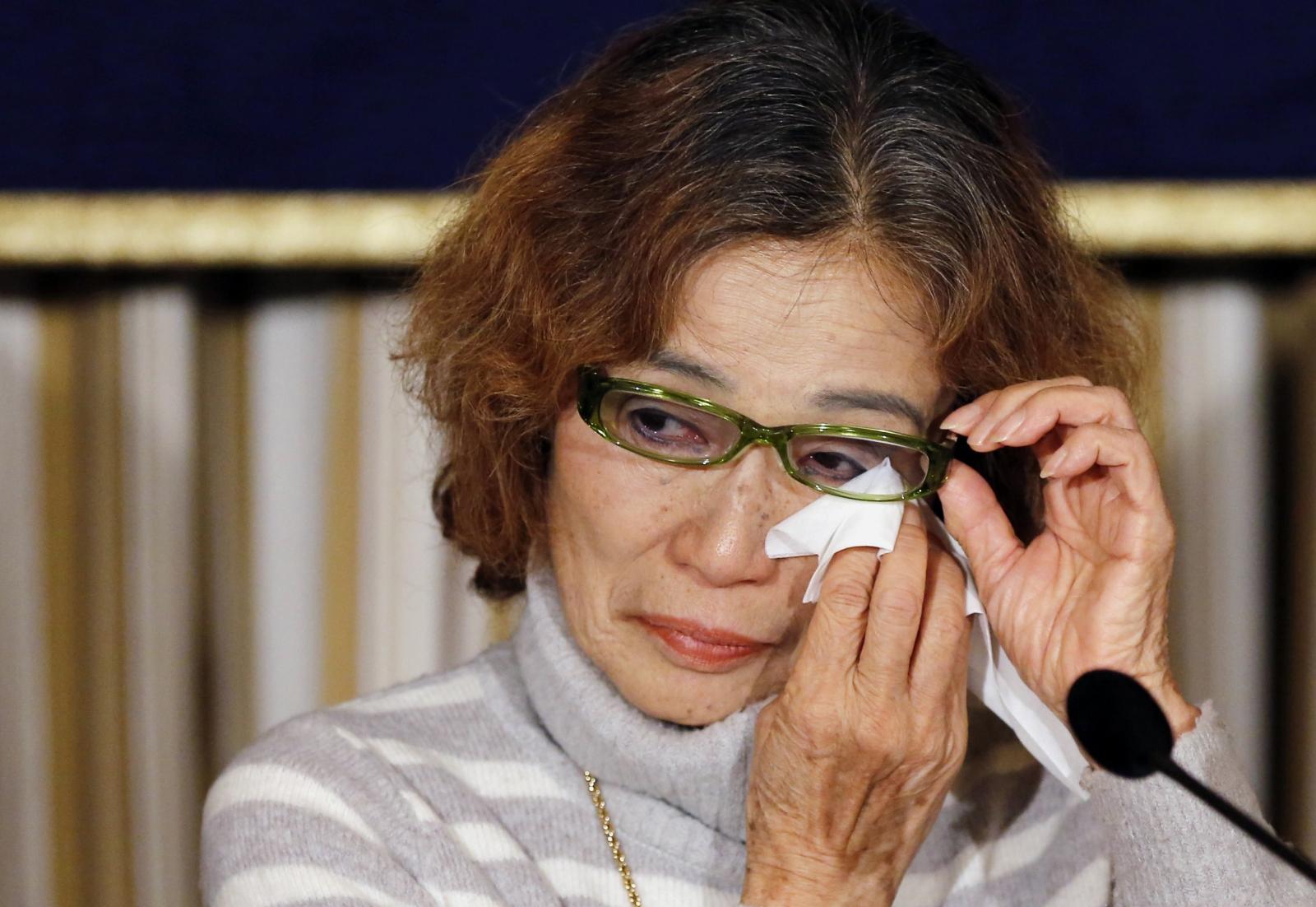 Junko Ishido, mother of Isis hostage Kenji Goto