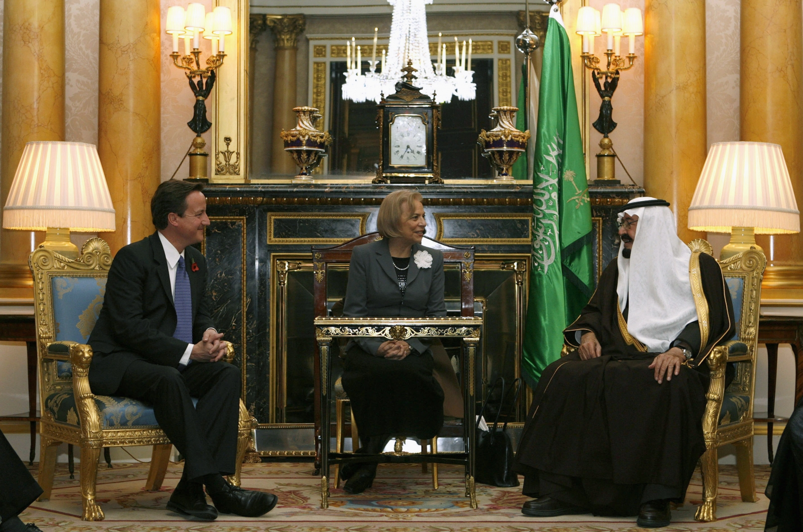 David Cameron and King Abdullah