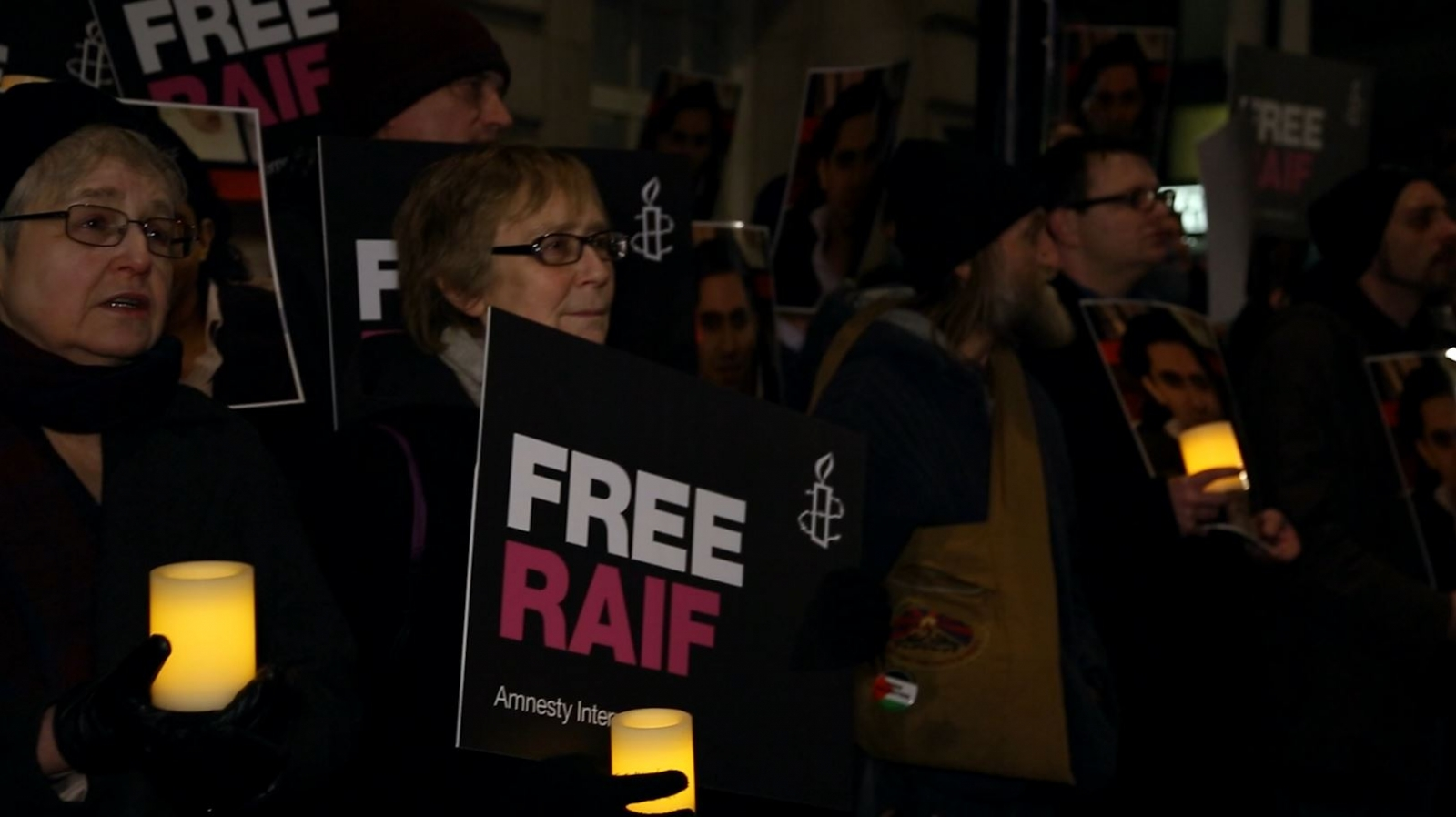 Amnesty International holds vigil for activist Raif Badawi