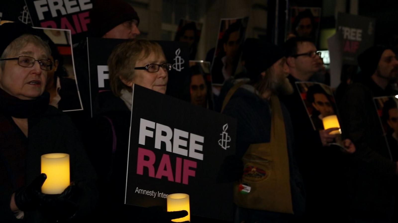 Amnesty International holds vigil for activist Raif Badawi