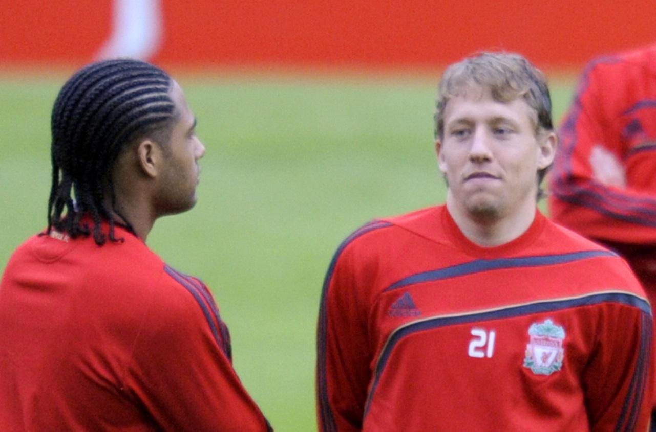 Glen Johnson and Lucas Leiva