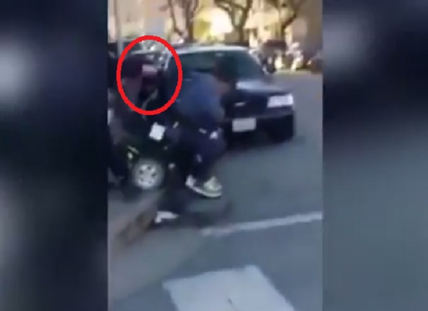 Video shows wheelchair user Devaughn Frierson being tipped in to road in San Francisco