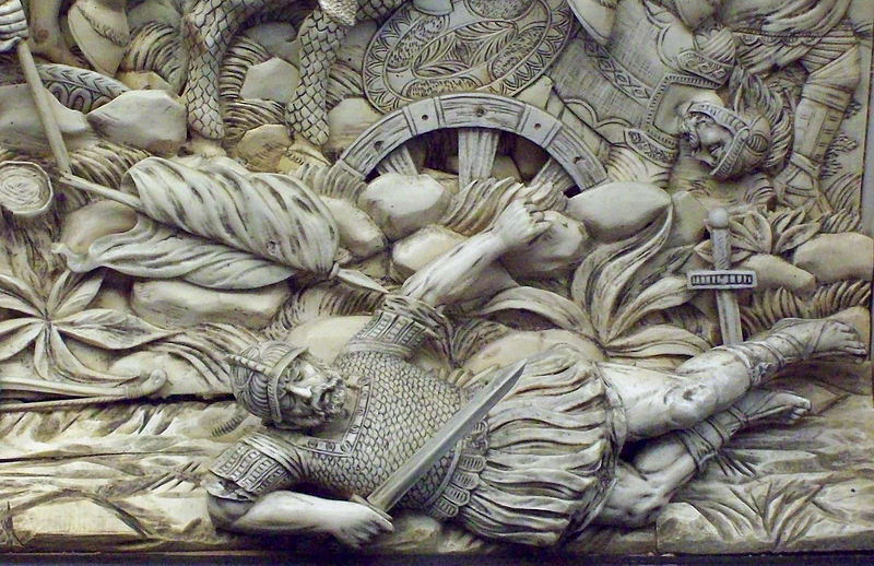 Battle of Gaugamela fought between Alexander the Great and Darius the Persian king.