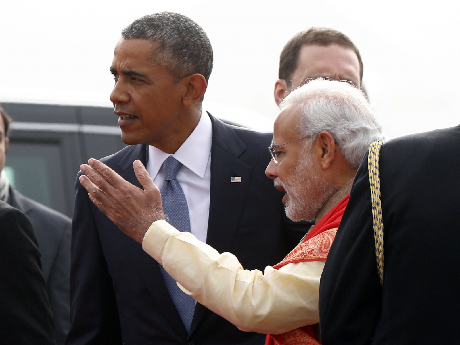 Obama lands in India