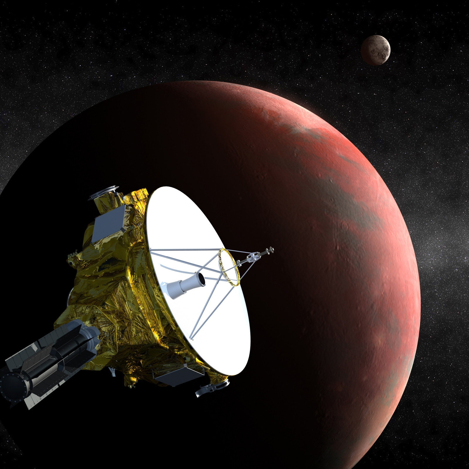 An artists impression of the New Horizons space probe, which will begin photographing Pluto today. (Reuters)