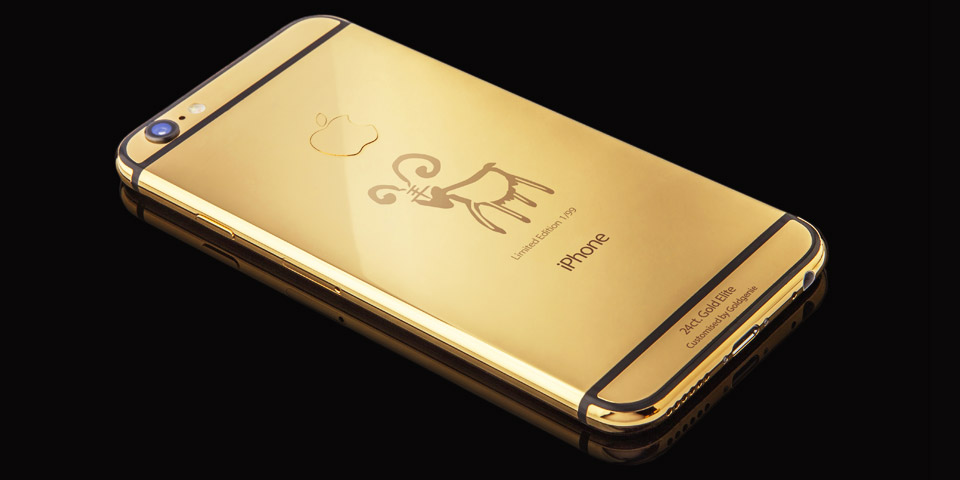 Gold-plated Year of the Goat iPhone 6