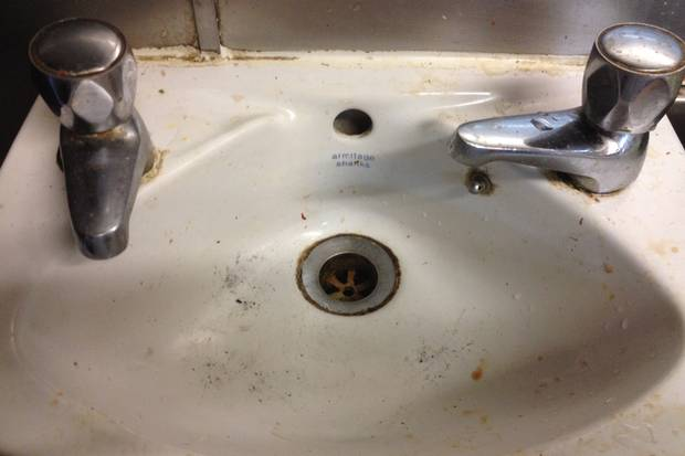 Clean hands? Not if you wash them in Chick Inn's facilities