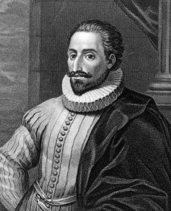 Miguel de Cervantes, the author of Don Quixote, who had a huge influence on the Spanish language