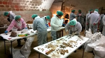 The crypt of the Convent of the Barefoot Trinitarians has been turned into a forensic lab as forensic archaeologists search for Cervantes' remains