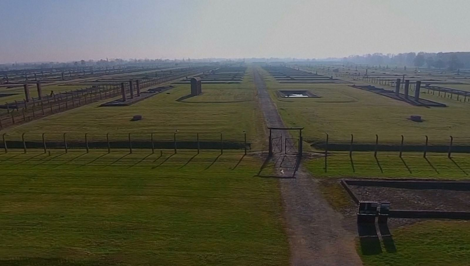 Holocaust Memorial Day 2015: Auschwitz concentration camp filmed from the sky in drone video