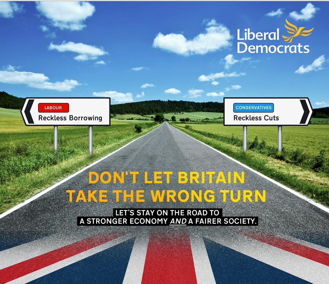 Liberal Democrats election poster