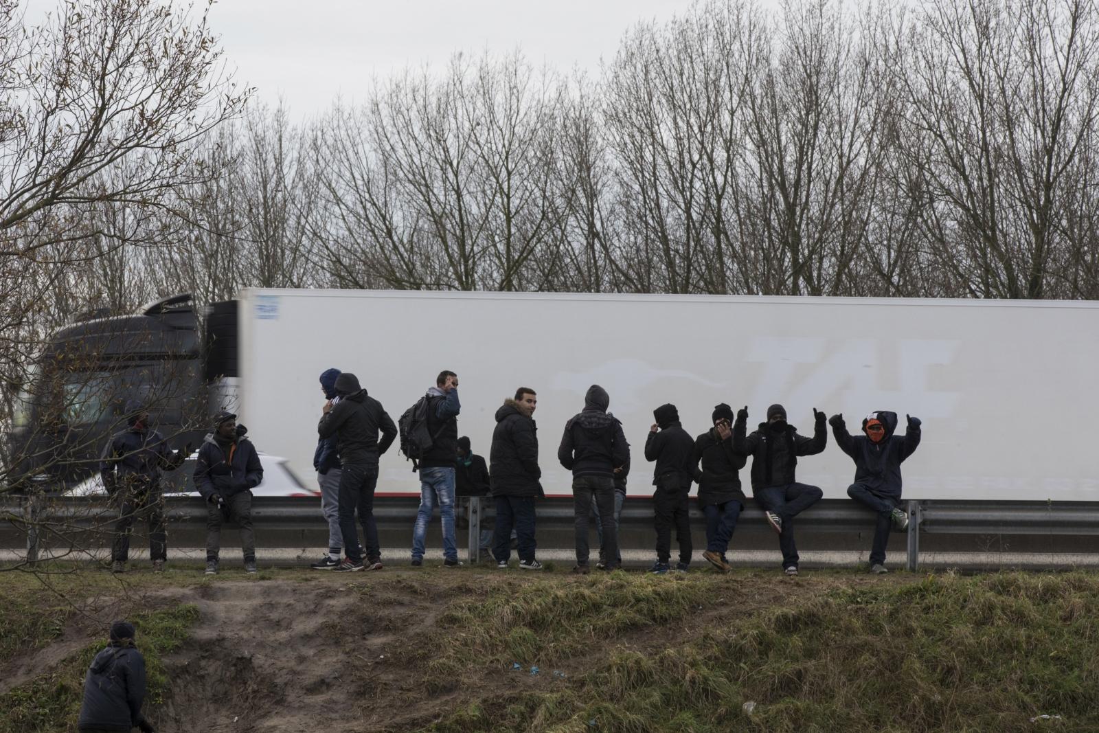Migrants Calais Eurotunnel Lorries