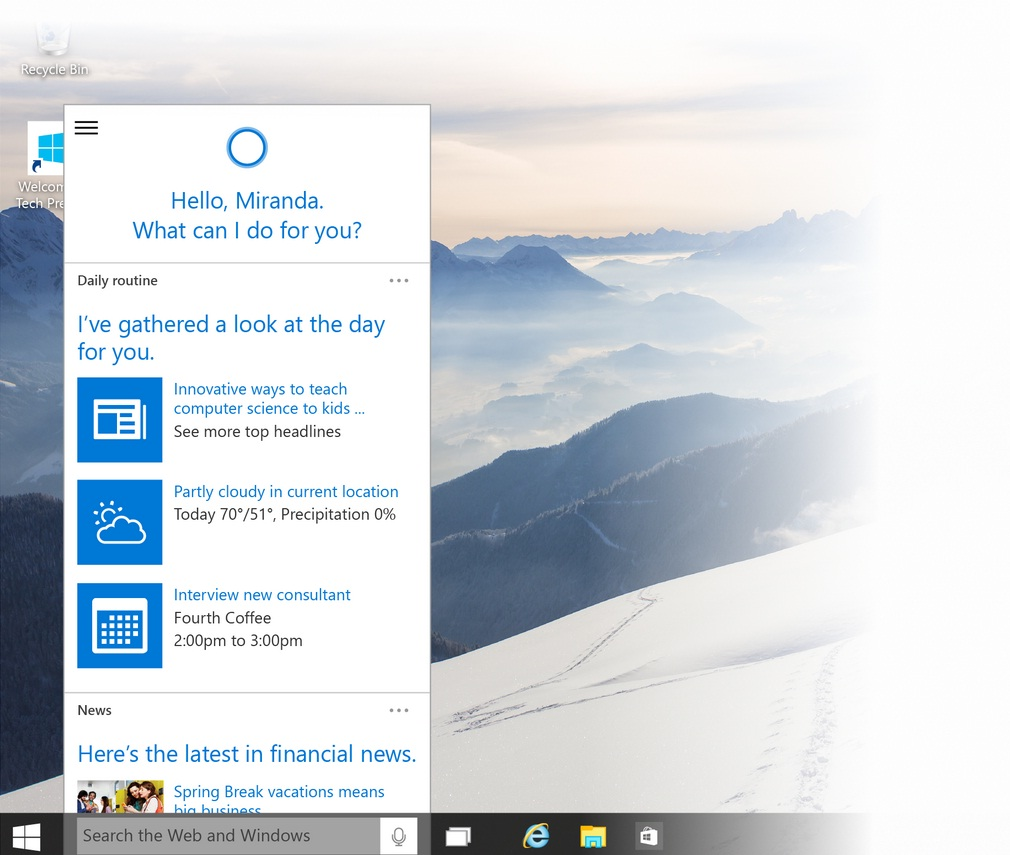 how to disable cortana digital assistant in windows 10. Black Bedroom Furniture Sets. Home Design Ideas