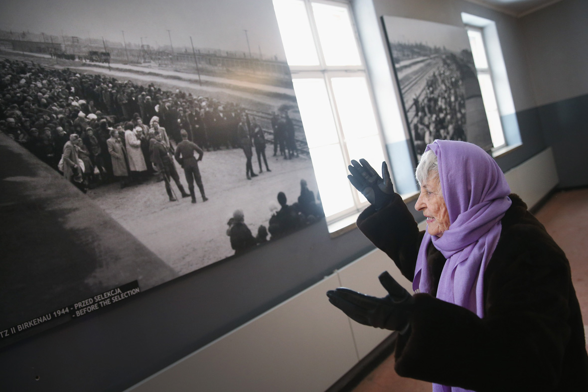 Auschwitz survivors return