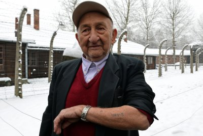 Auschwitz survivors return