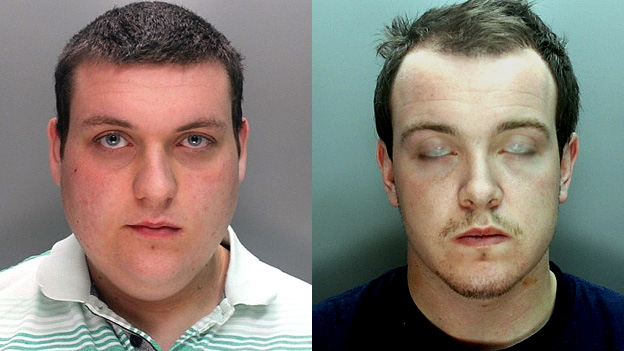 Jack Sibley (left) and Warren Reid were jailed for attacking Sibley's own grandfather