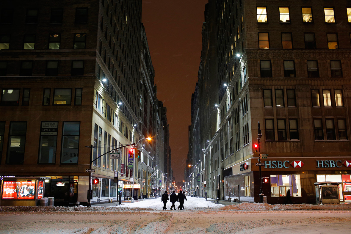 New York Snow Eerily Deserted Car Free Streets Like A
