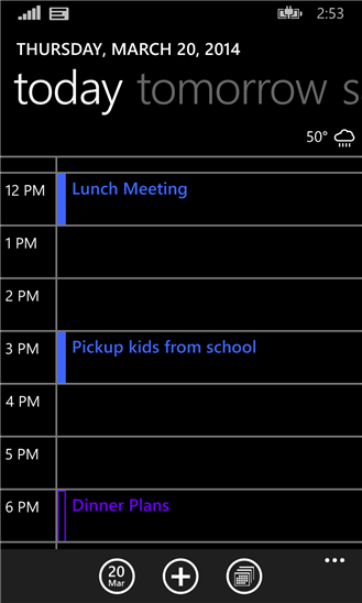 Microsoft official Calendar app for Windows Phone 8.1 now updated to feature one-click Agenda View