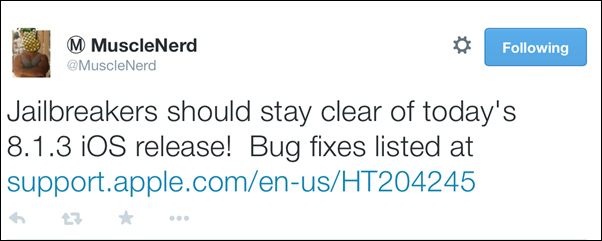 iOS 8.1.3 jailbreak status update: Apple kills several exploits in new update