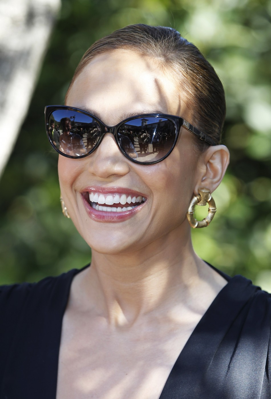 Singer Jennifer Lopez arrives at the first annual UNICEF Women of Compassion Luncheon in Los Angeles