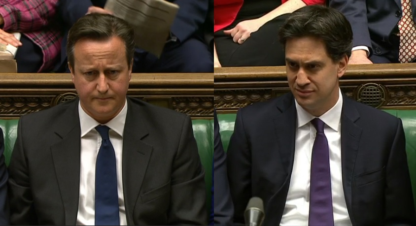 David Cameron and Ed Miliband clash over the NHS