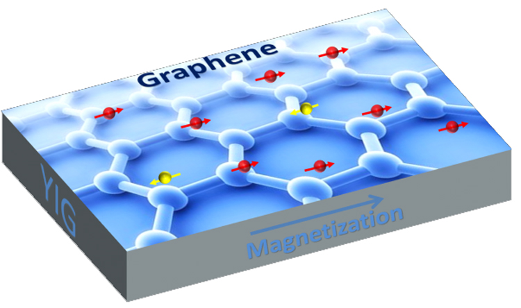 Graphene is a one-atom thick sheet of carbon atoms arranged in a hexagonal lattice. UC Riverside physicists have found a way to induce magnetism in graphene while also preserving its electronic properties