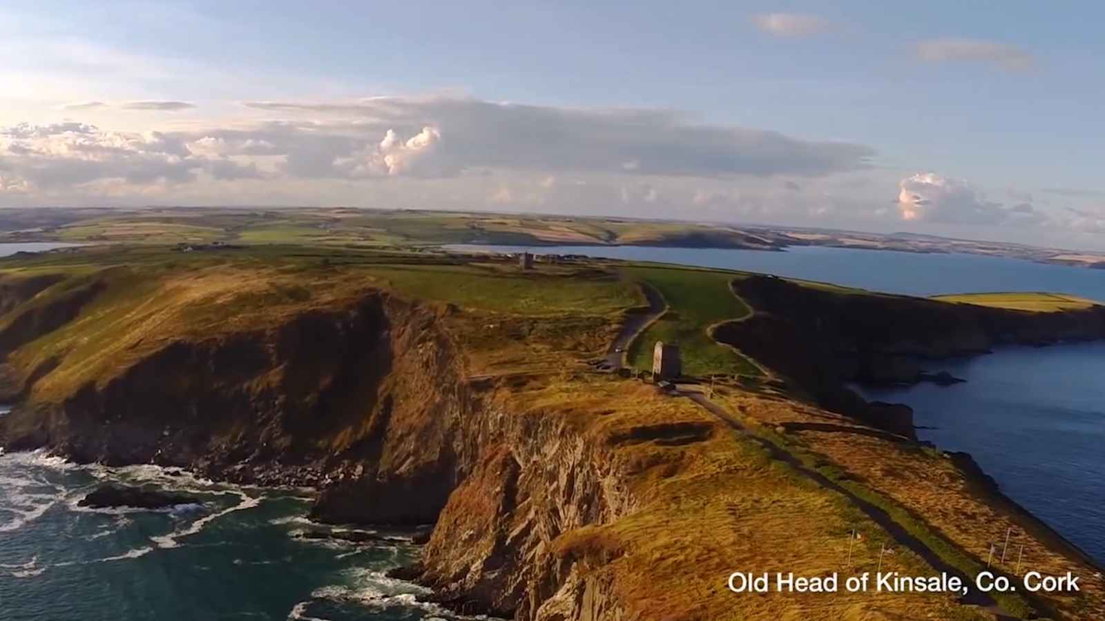 Ireland drone video shows off country's beautiful west coast