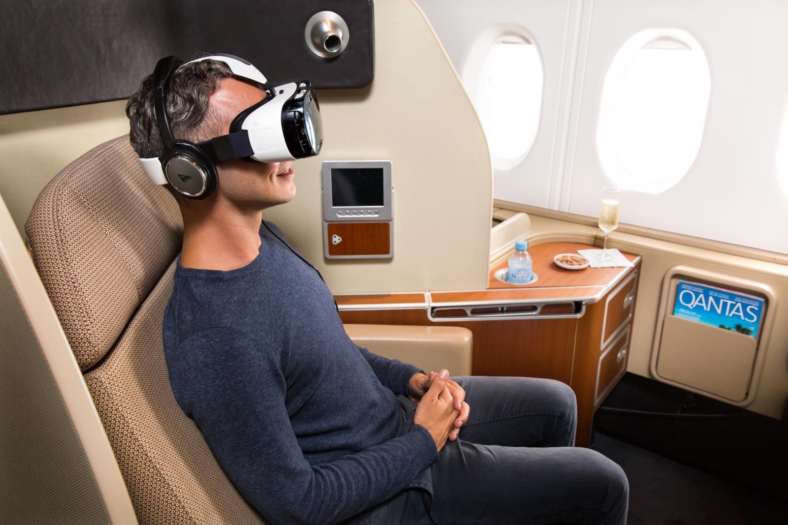 Samsung Gear VR on Qantas flight