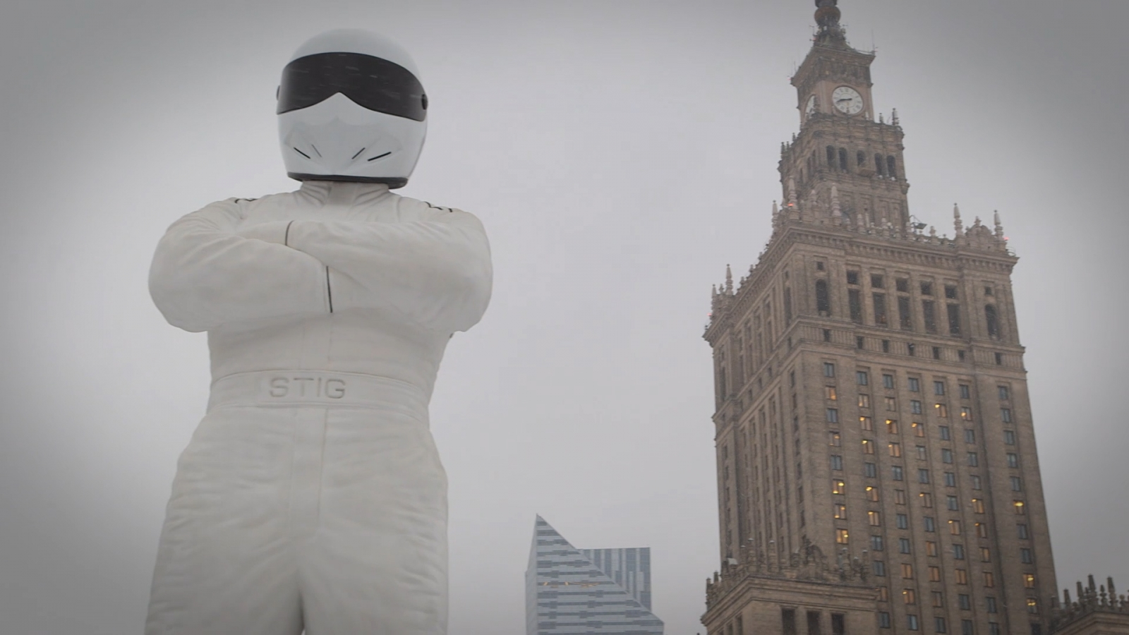 The Stig: Giant statue of Top Gear star unveiled in Poland