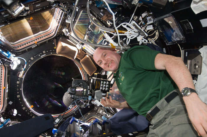 ESA astronaut André Kuipers during his six-month PromISSe mission to the International Space Station with Nightpod