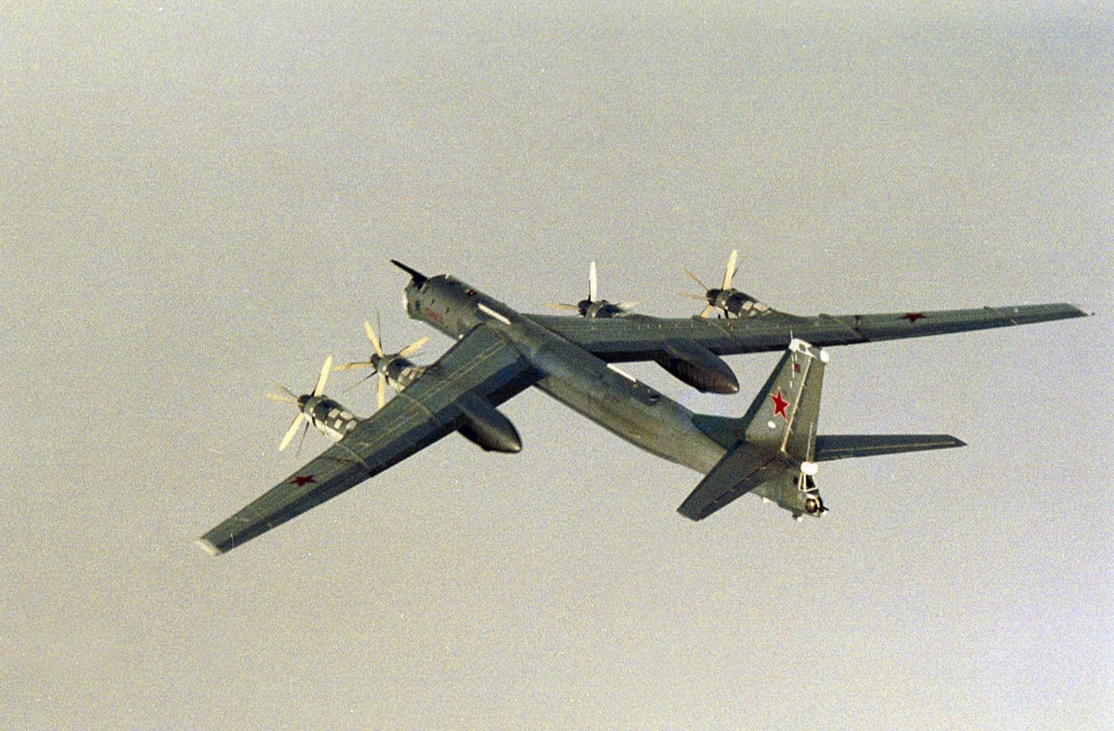 A Russian Tupolev Tu-95 plane