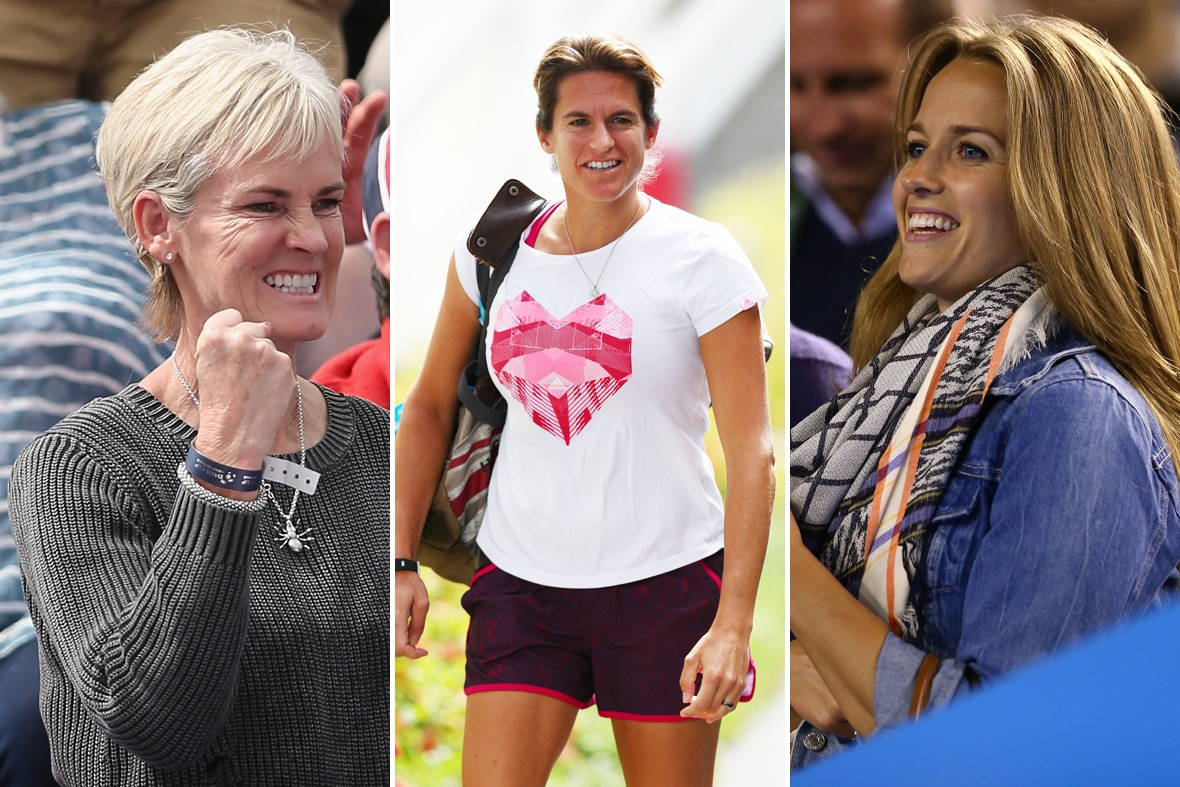 Judy Murray, Amelie Mauresmo and Kim Sears