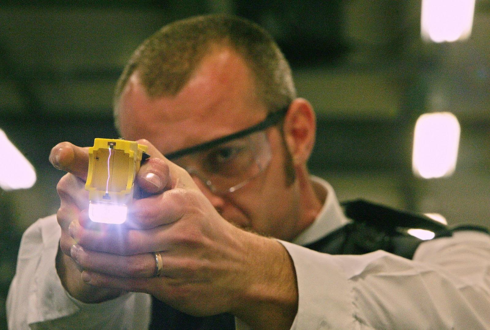 Taser use London police