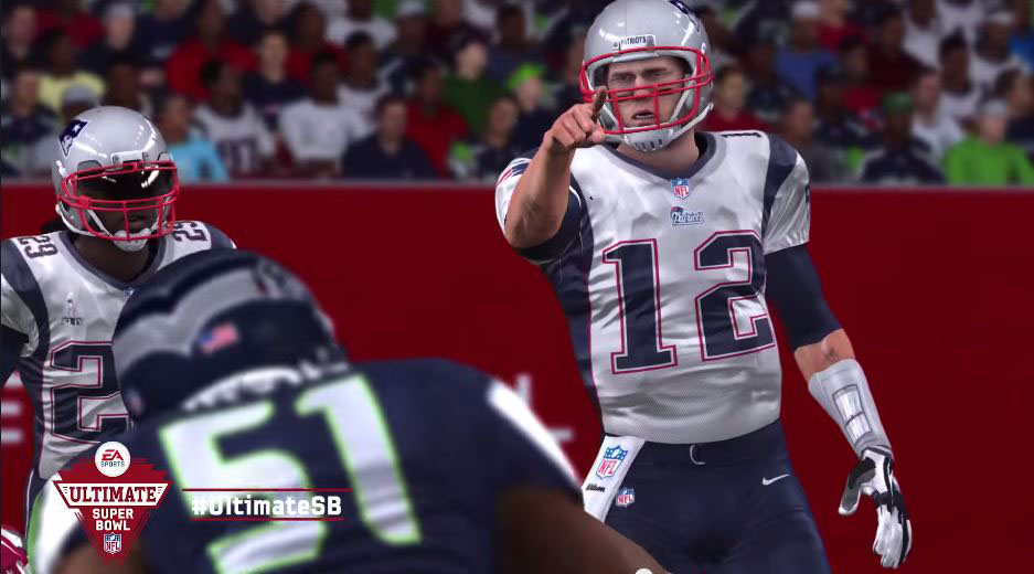 Super Bowl EA Madden Simulation