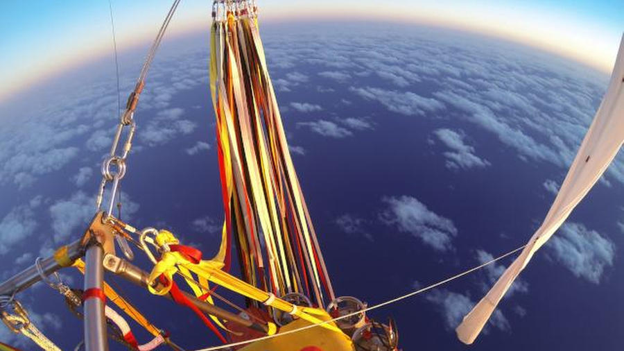 Gas-filled balloon completes record-breaking Pacific flight