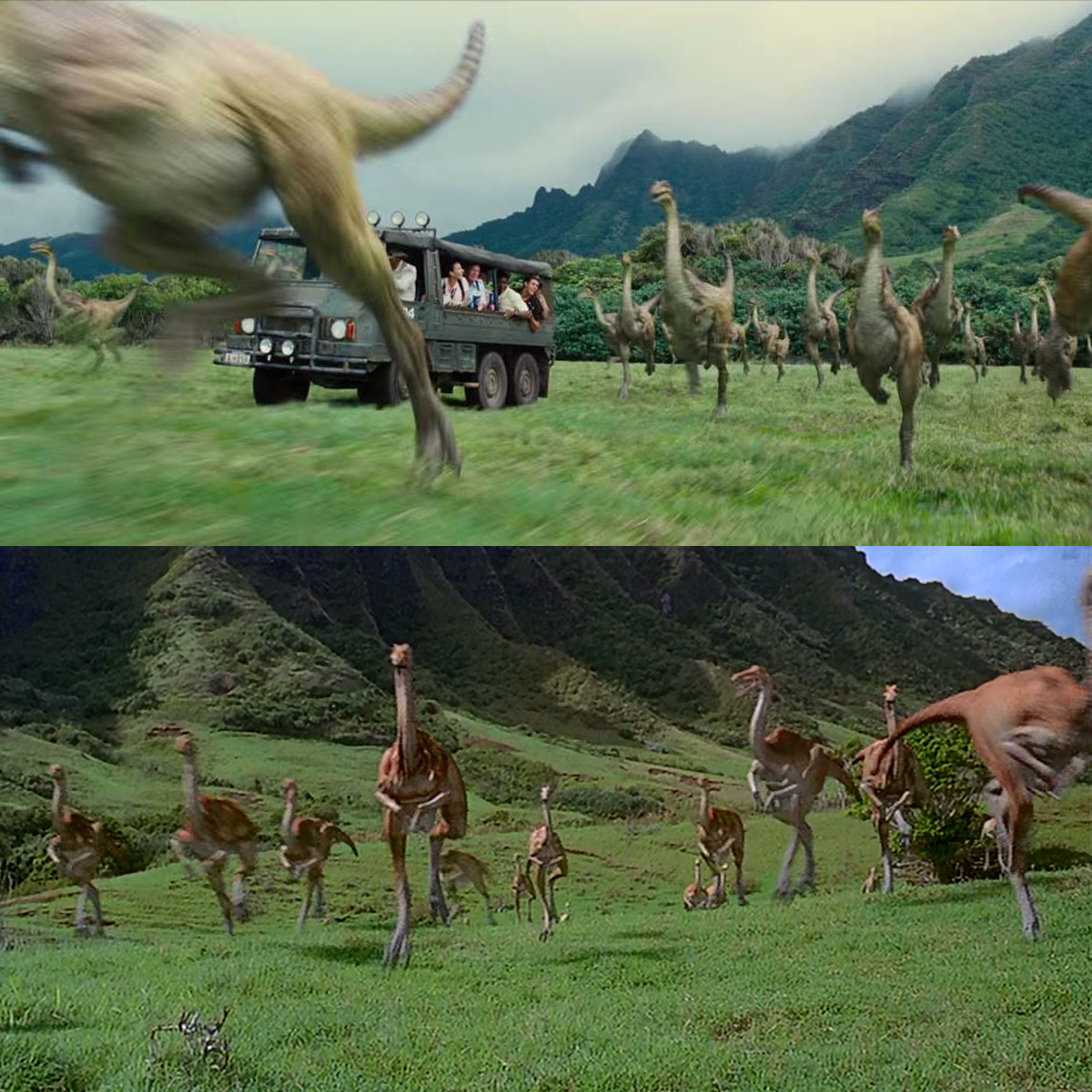 Jurassic World Jurassic Park Comparisons Easter Eggs Trailer