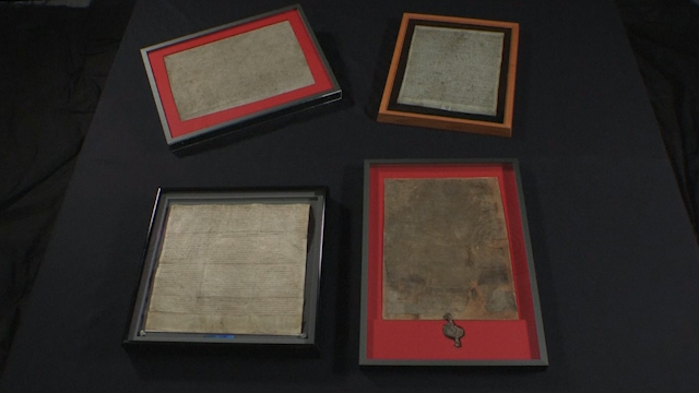 Four surviving Magna Cartas united for first time